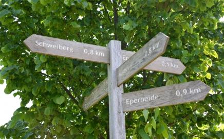 Wandelroute Epen routebordjes op Groene Wissel Epen