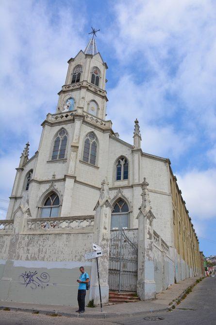 church at Valparaiso Chile