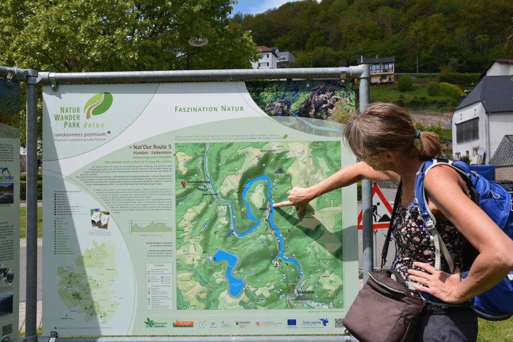 informatiebord Naturwanderpark Delux route 5
