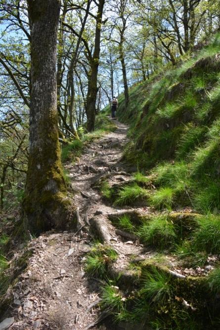 pittige klim op weg naar Vianden