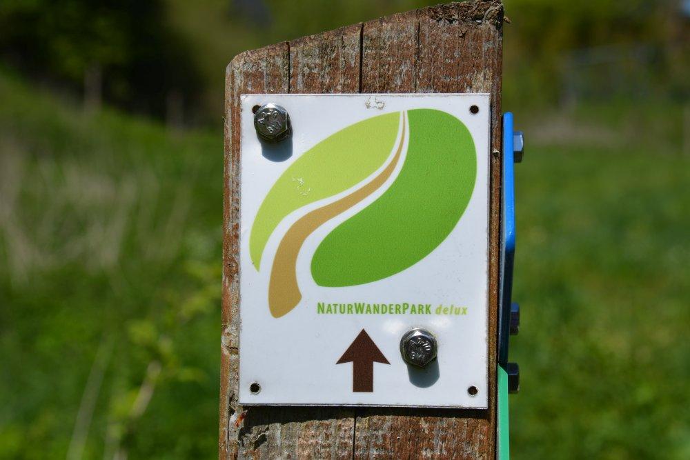 routeaanduiding in NaturWanderPark delux