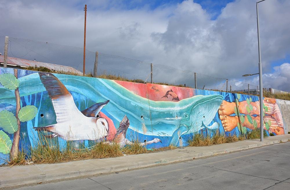 Street Art bij aankomst op Vuurland