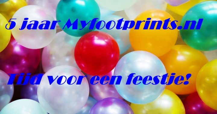 5 jaar myfootprints.nl, ballonnen en winactie
