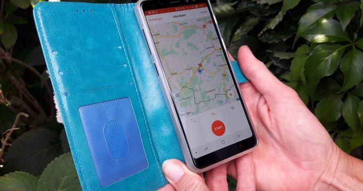 wandel app Strava op smartphone
