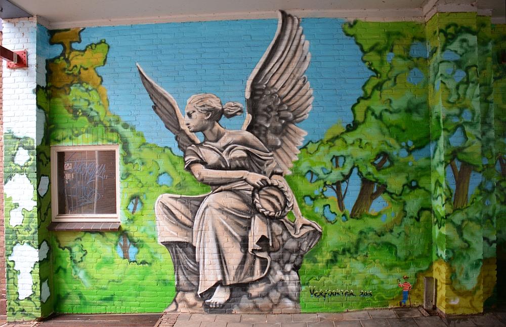 Street art Nijmegen met Waar is Wally