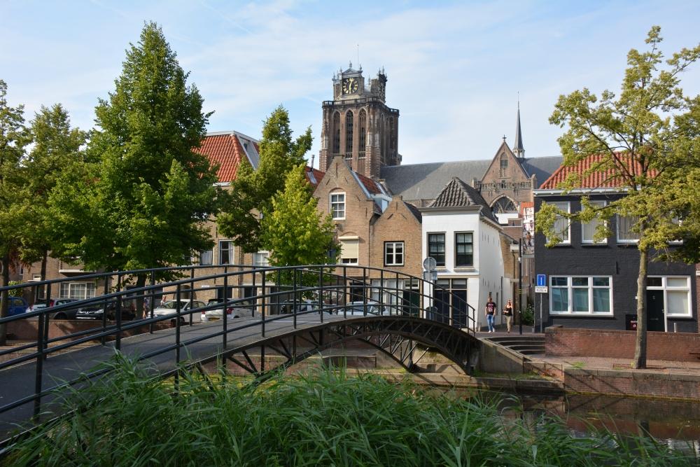 Uitzicht op de grote kerk Dordrecht