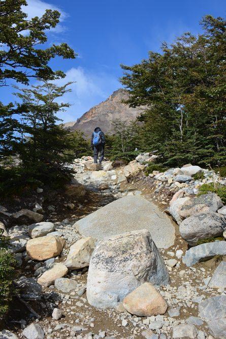 hartkloppingen op de hike naar Laguna de Los Tres en Mount Fitzroy