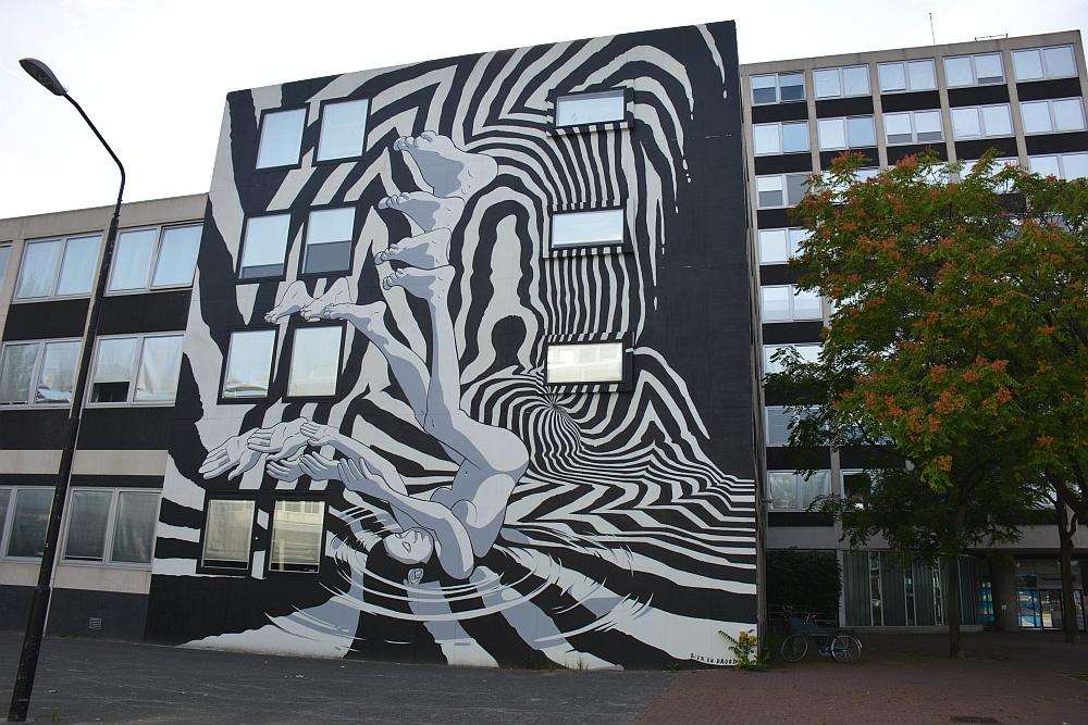 streetart Dordrecht bij parkeergarage