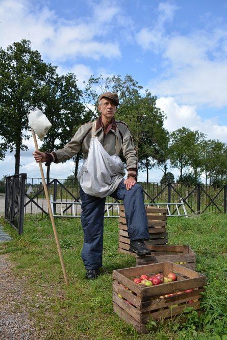 Appels plukken voor cider Werk aan de Groeneweg Klompenpad Lint- en Liniepad