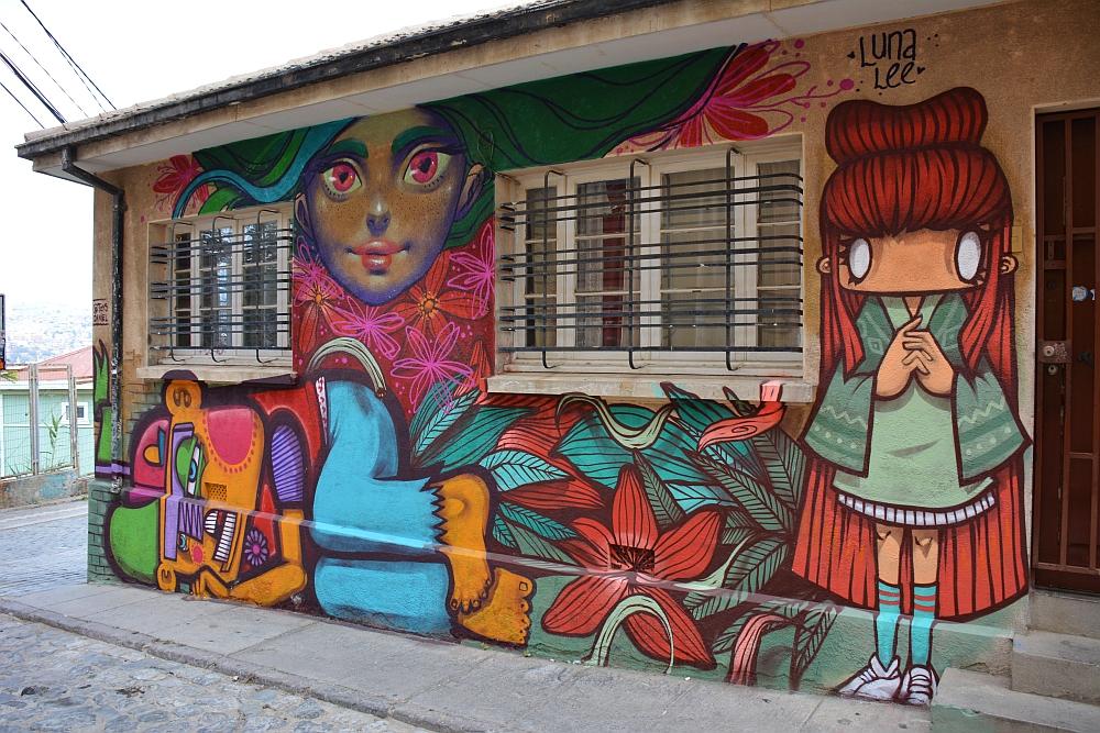 Street art at Valparaiso Chile