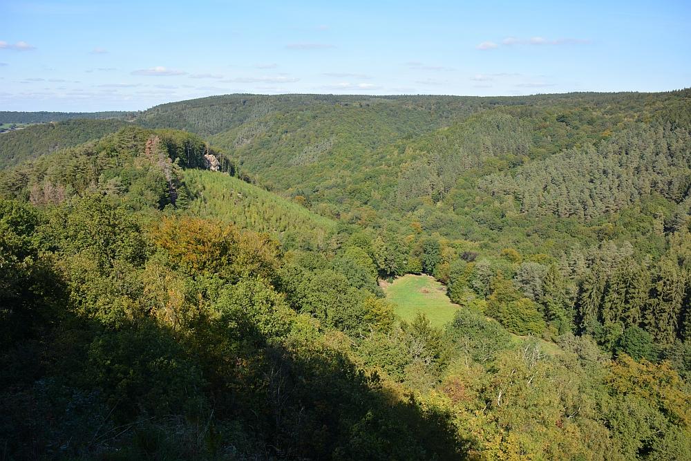 mooiste wandelingen in de Ardennen uitkijkpunt op de Ninglinspo vallei
