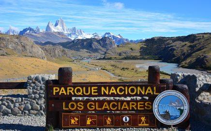 toegangsbord Parque Nacional Los Glaciares bij El Chalten