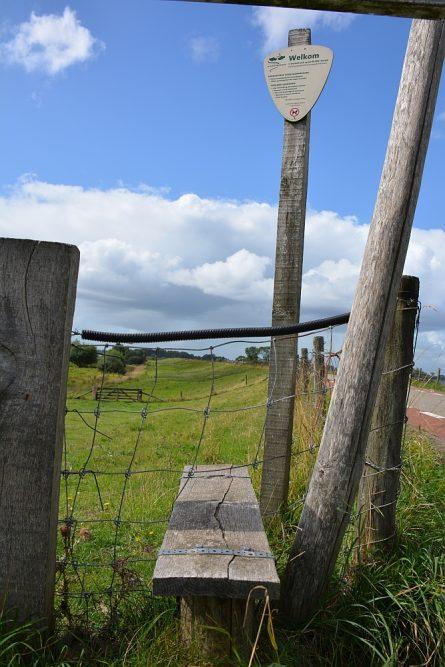 wandelen over boerenland op het Klompenpad Lint- en Liniepad