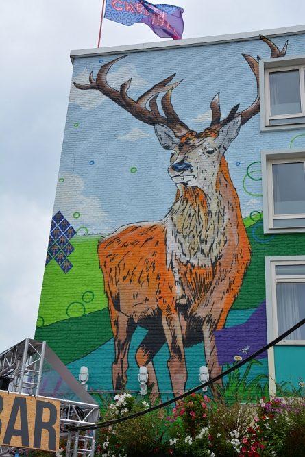Streetart Nijmegen hert hotel Credible