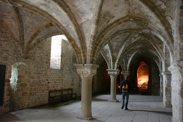 Binnenzijde abij van Mont Saint Michel
