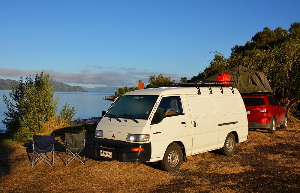 campervan Bicha en Myfootprintsmerengebied route Chili en Argentinië