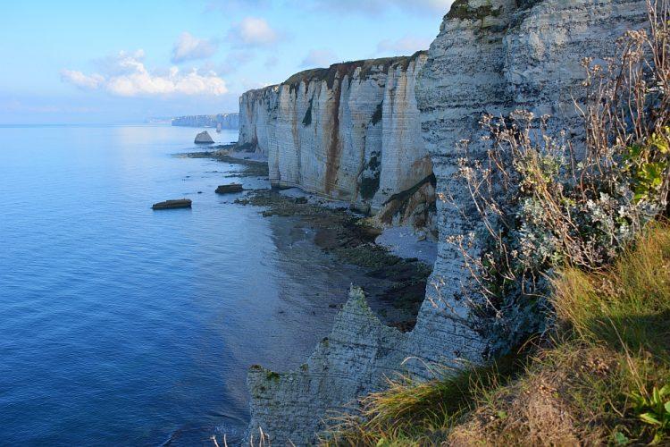 mooie foto's van de krijtrotsen Etretat Normandië