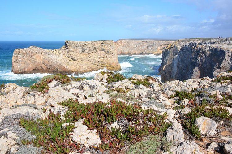 kust bij Cabo de São Vicente Portugal
