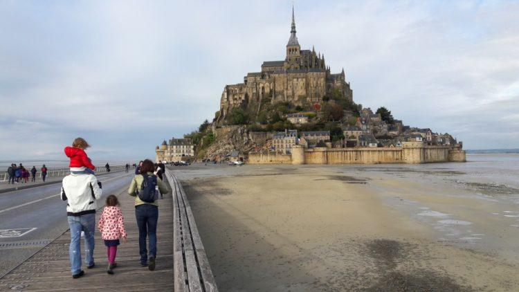 wandelen naar Mont Saint Michel