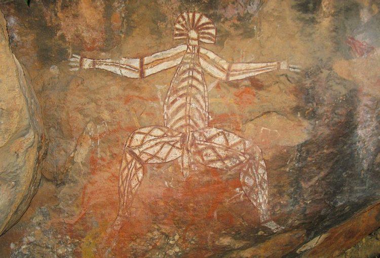 aborigional rotsschilderring in Kakadu