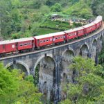 trein en Nine Arch Bridge Ella Sri lanka