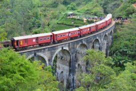 trein en Nine Arch Bridge Ella Sri lanka