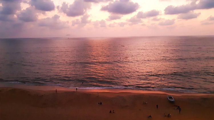 zonsondergang Negombo Sri Lanka