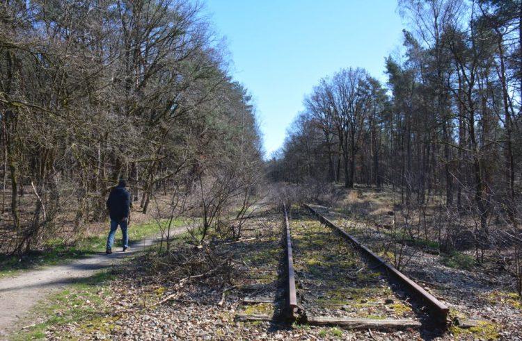 oude spoorlijn IJzeren Rijn van Antwerpen naar Mönchen-Gladbach in Limburg