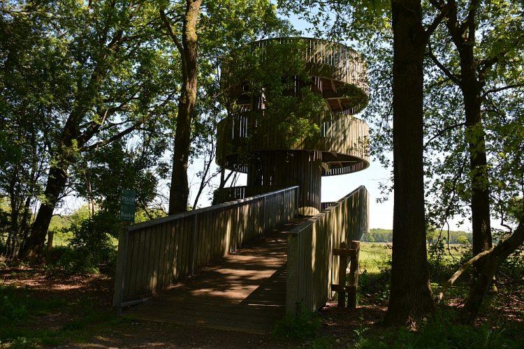 uitkijktoren in het Weerterbos