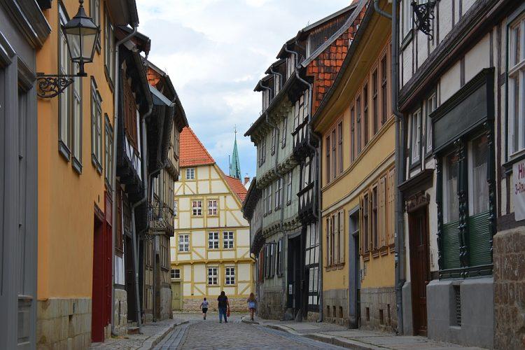 vakwerkhuizen Quedlinburg Harz Duitsland