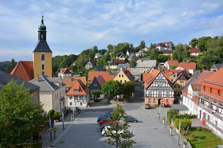 Centrale plein van Hohnstein Sächsische Schweiz