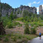 Indrukwekkende rotsformaties langs de Malerweg Säksische Schweiz Duitsland