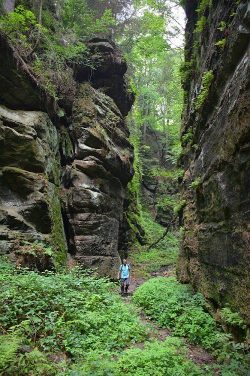 Uttewalder Grund Duitsland Malerweg etappe 1