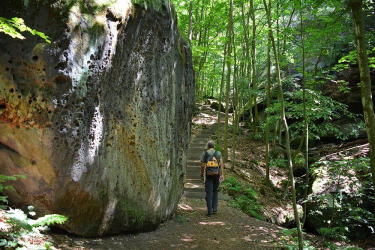 imposante rotsen op de Malerweg