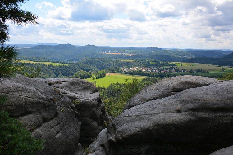 imposante rotspartijen in de Sächsische Schweiz