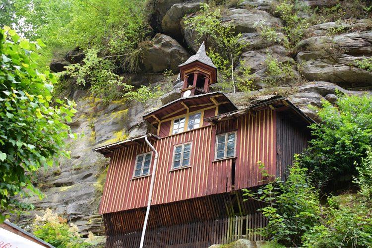rotskapel op Malerweg Duitsland