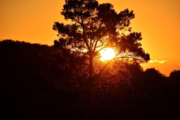 zonsondergang Duitsland