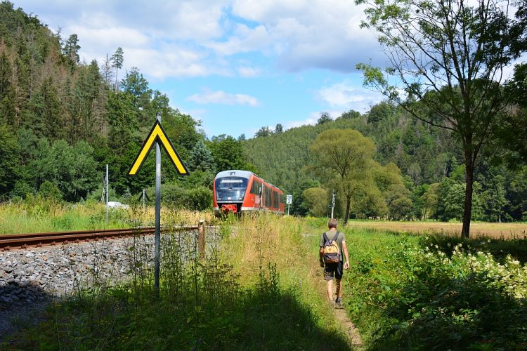 langs het spoor bij Kohlmuhle