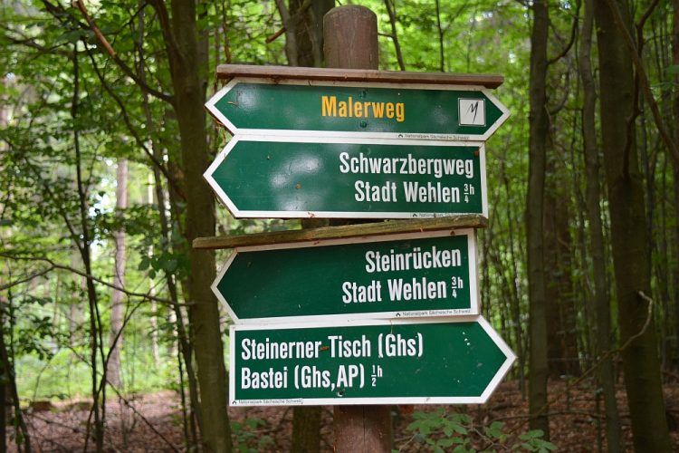 routebordje Malerweg Duitsland
