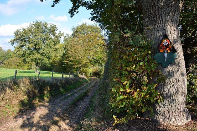 Veldkruis langs pad Trage Tocht Slenaken