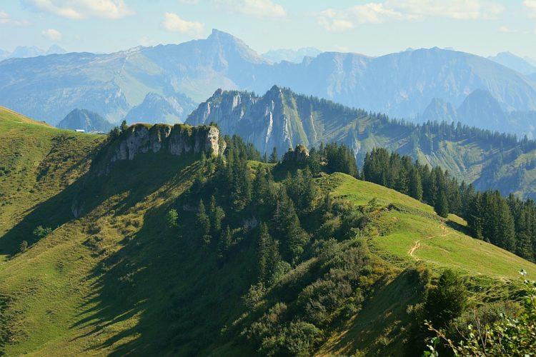 bergwandeling Bezau Lindenau Oostenrijk