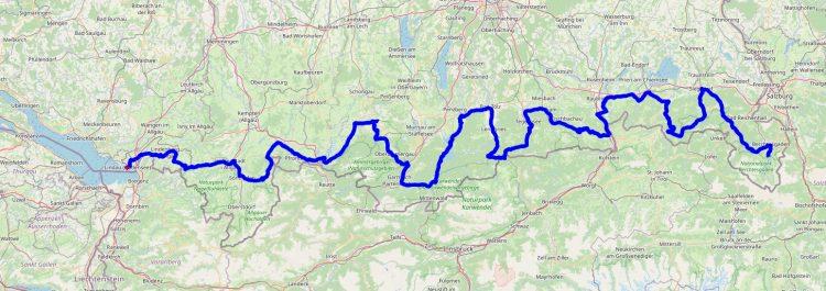 Deutsche Alpenstrasse routekaart