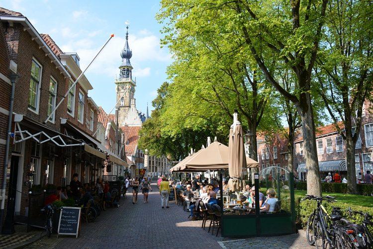 centrum en stadhuis Veere Zeeland