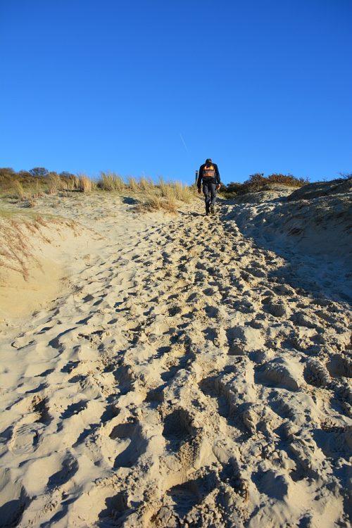 wandelen door de duinen op Schouwen-Duiveland