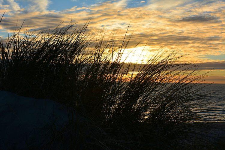 zonsondergang strand Westenschouwen