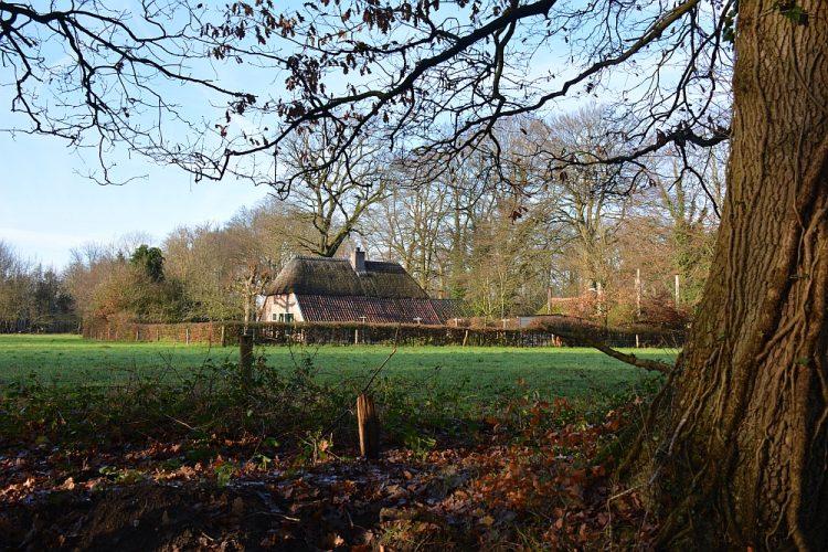 boerderij in buitengebied tijdens wandelen Ermelo