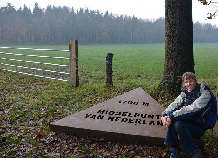 bord naar middelpunt van Nederland