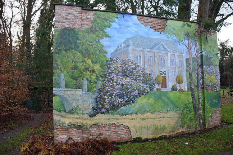 muurtje met muurschildering