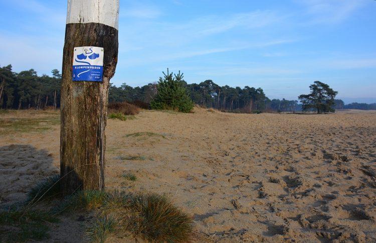 wandel routepaaltje Wekeromse Zand