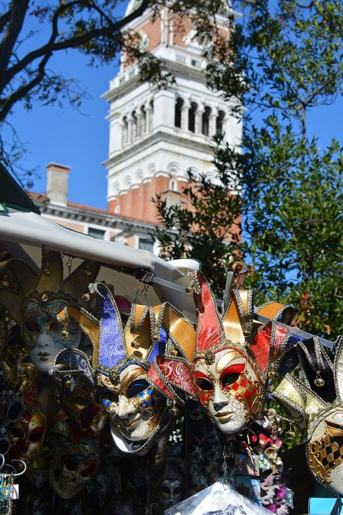 carnaval maskers in Venetië